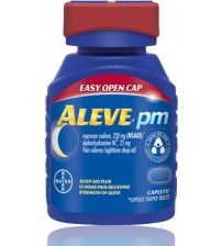 Aleve PM Sleep Aid Pain Relief Easy Open Cap 220 mg 40 Caplets